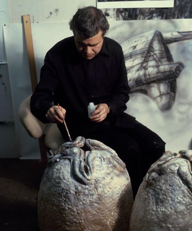 Hr Giger Alien On Set 01