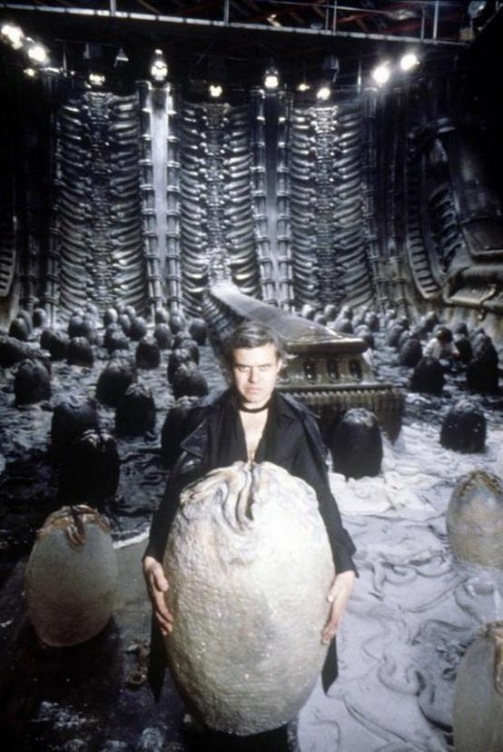 Hr Giger Alien On Set 07