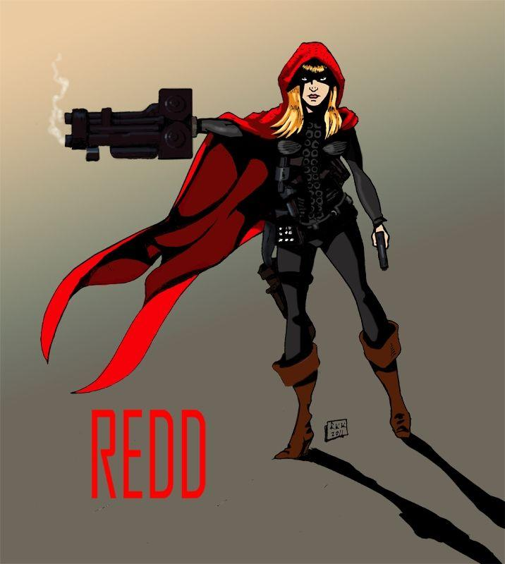 Agent Redd Art by Kelley Kombrinck