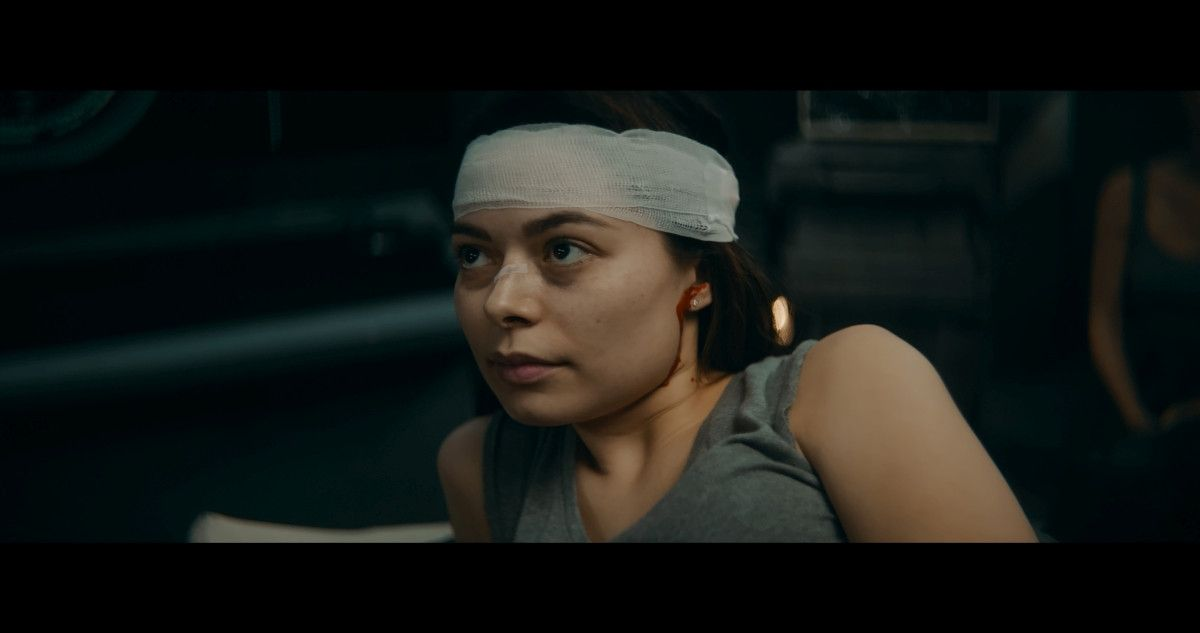 "=Miranda Cosgrove as Lisa Brown in the sci-fi film, ""3022,"" a Saban Films release. Photo courtesy of Saban Films."