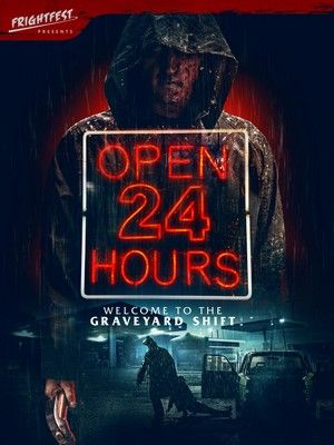 Open 24 Hours Poster Large
