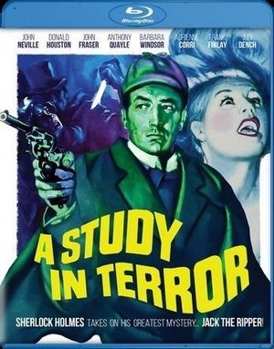 A Study In Terror Blu Ray Poster