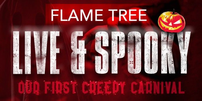 flame tree live and spooky banner large