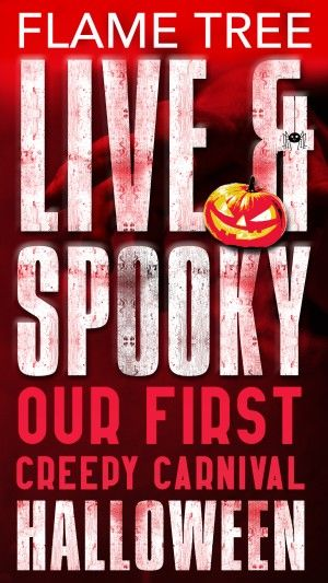Flame Tree Live And Spooky Poster Large
