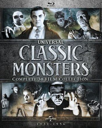 Universal Classic Monsters 30 Film Blu Ray Poster