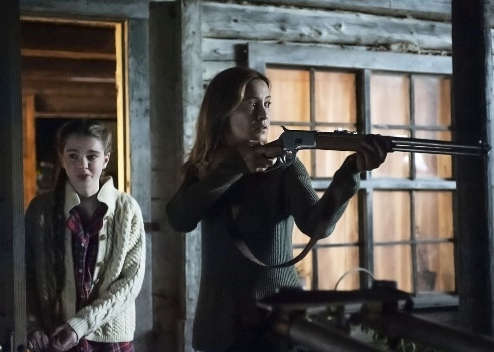 (L-R) Summer H. Howell as Renee and Camille Sullivan as Anne in the thriller / horror / suspense film HUNTER HUNTER, an IFC Midnight release. Photo courtesy of IFC Midnight.