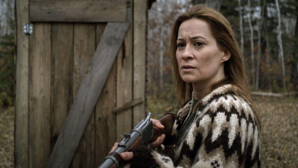 Camille Sullivan as Anne in the thriller / horror / suspense film HUNTER HUNTER, an IFC