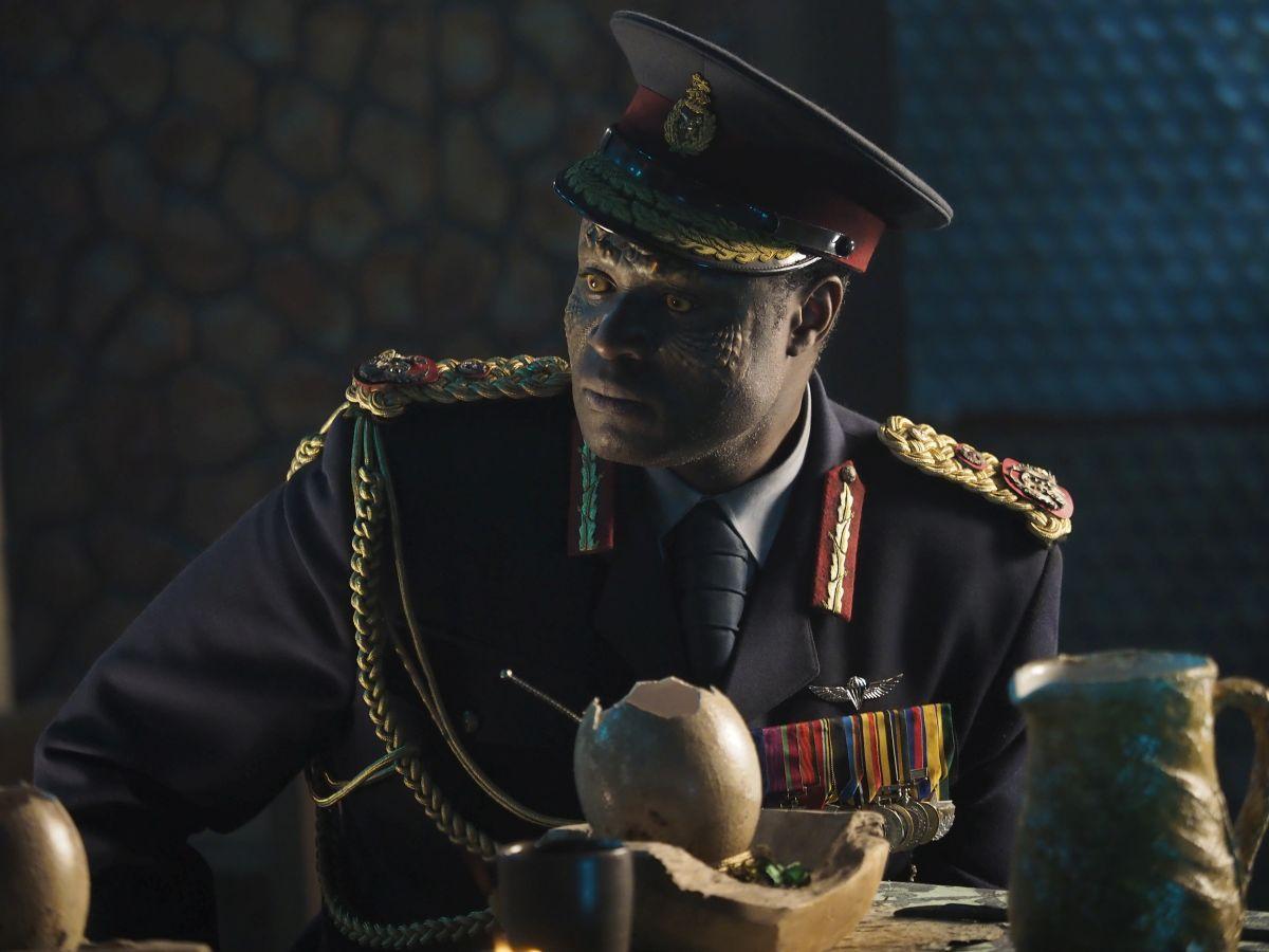 "Muya Lubambu Tshinioka as Vril Idi Amin in the sci-fi comedy ""IRON SKY: THE COMING RACE"". Photo courtesy of Vertical Entertainment."