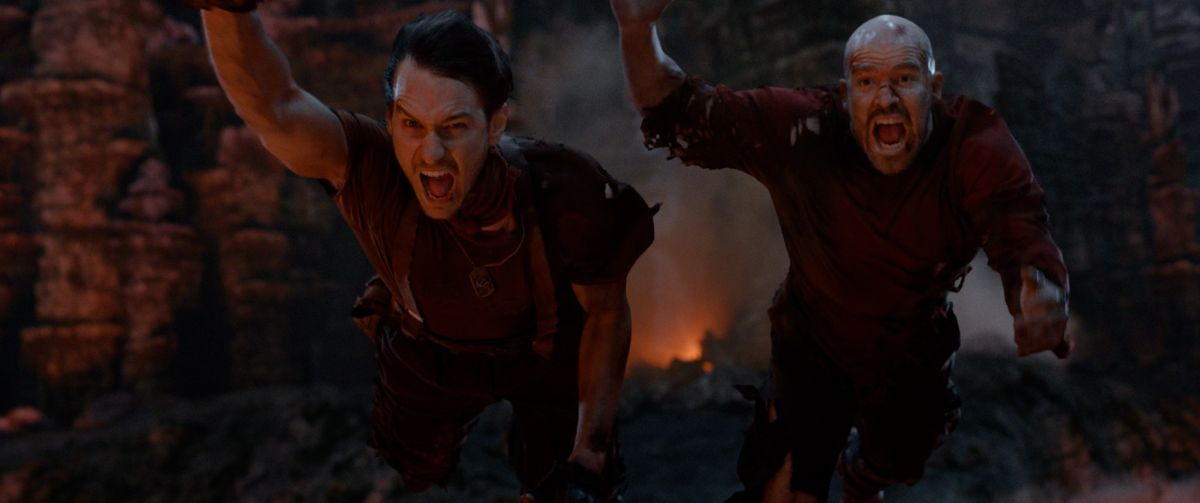 """(L-R) Vladimir Burlakov as Sasha and Kit Dale as Malcolm in the sci-fi comedy """"IRON SKY: THE COMING RACE"""". Photo courtesy of Vertical Entertainment."""