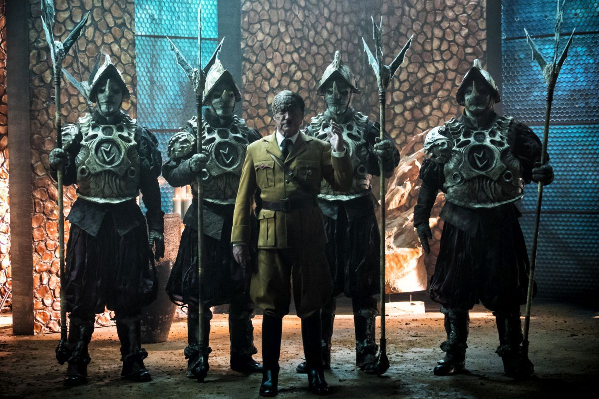 """(Center) Udo Kier as Wolfgang Kortzfleisch in the sci-fi comedy """"IRON SKY: THE COMING RACE"""". Photo courtesy of Vertical Entertainment."""