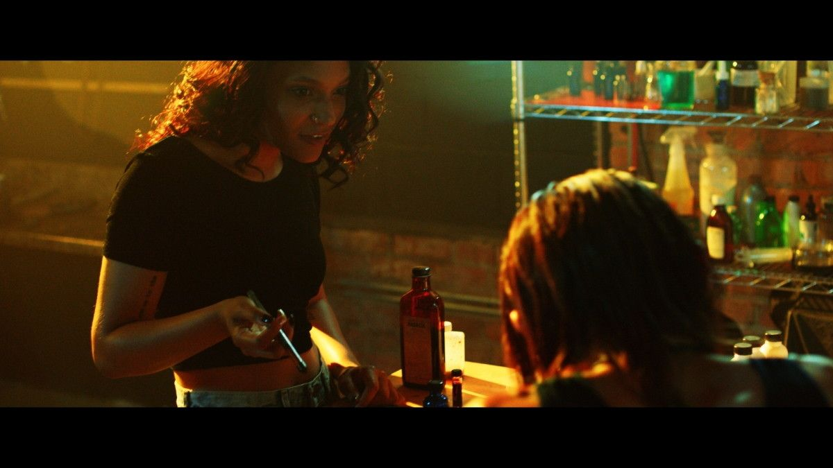 "Kimberly Michelle Vaughn as Pia in the Momentum Pictures' horror / thriller ""MOLLYWOOD"". Photo courtesy of Momentum Pictures."