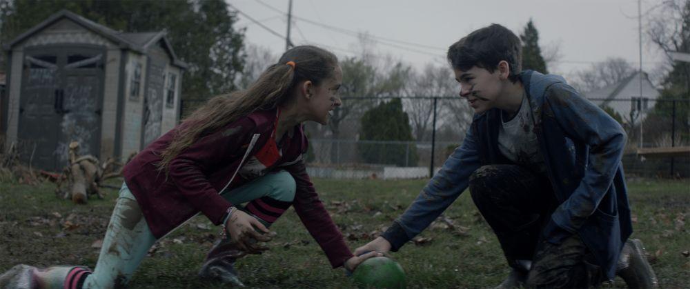 "(L-R) Nita-Josee Hanna as Mimi and Owen Myre as Luke in the horror/action/comedy film, ""PG: PSYCHO GOREMAN,"" a RLJE Films/Shudder release. Photo courtesy of RLJE Films / Shudder."