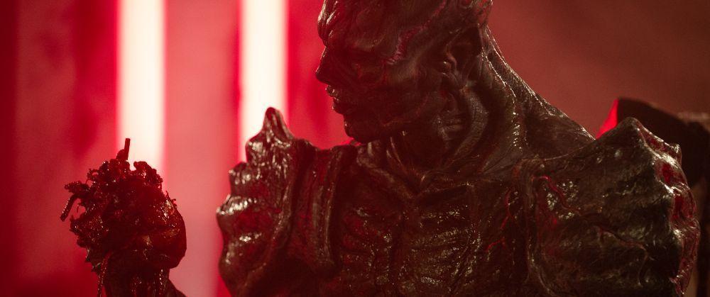 "Matthew Ninaber as Psycho Goreman in the horror/action/comedy film, ""PG: PSYCHO GOREMAN,"" a RLJE Films/Shudder release. Photo courtesy of RLJE Films / Shudder."