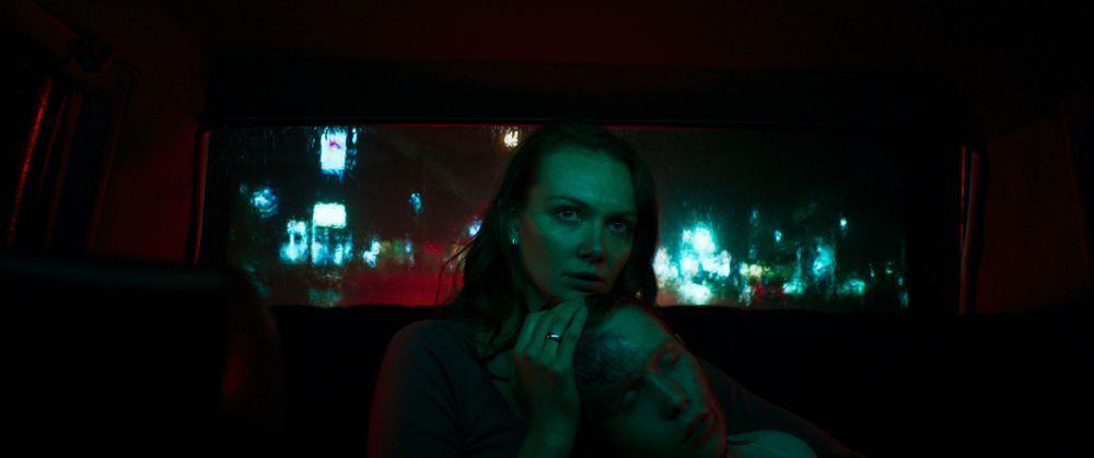 [L-R] Andi Matichak as Laura and Luke David Blumm as David in the horror film SON, a RLJE Films/Shudder release. Photo courtesy of RLJE Films.