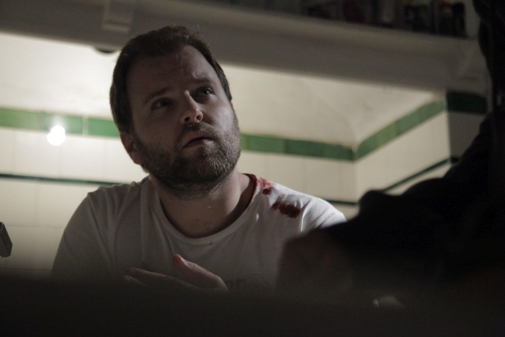 "Cody Heuer as Mark in the Gravitas Ventures horror film ""THE 16TH EPISODE"". Photo courtesy of Gravitas Ventures."