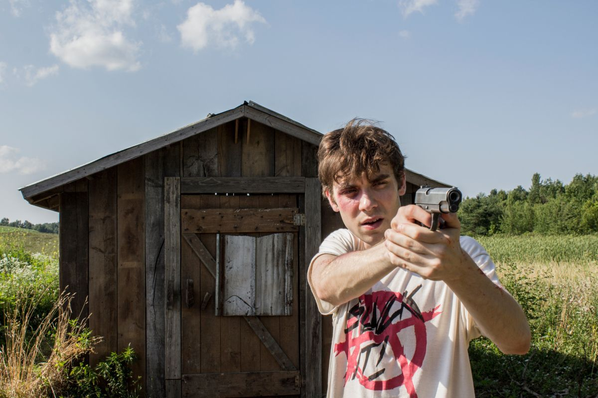 Jay Jay Warren as Stan in the horror, thriller THE SHED, an RLJE Films release. Photo courtesy of RLJE Films.