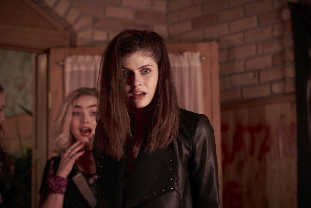 (L-R) Maddie Hasson as Val and Alexandra Daddario	as Alexis in the horror/thriller, WE SUMMON THE DARKNESS, a Saban Films	release. Photo Courtesy	of Saban Films.