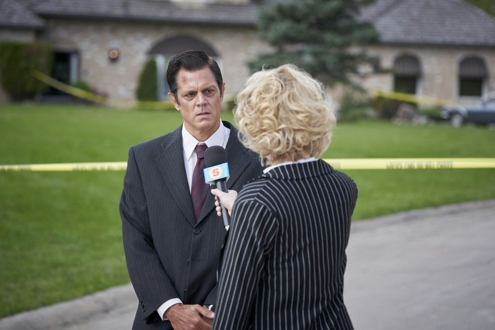 Johnny Knoxville as Pastor John Henry Butler in the horror/thriller, WE SUMMON THE DARKNESS, a Saban Films release. Photo	Courtesy of Saban Films.
