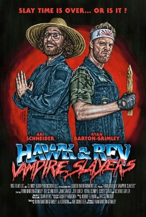 Hawk And Rev Vampire Slayers Poster Large