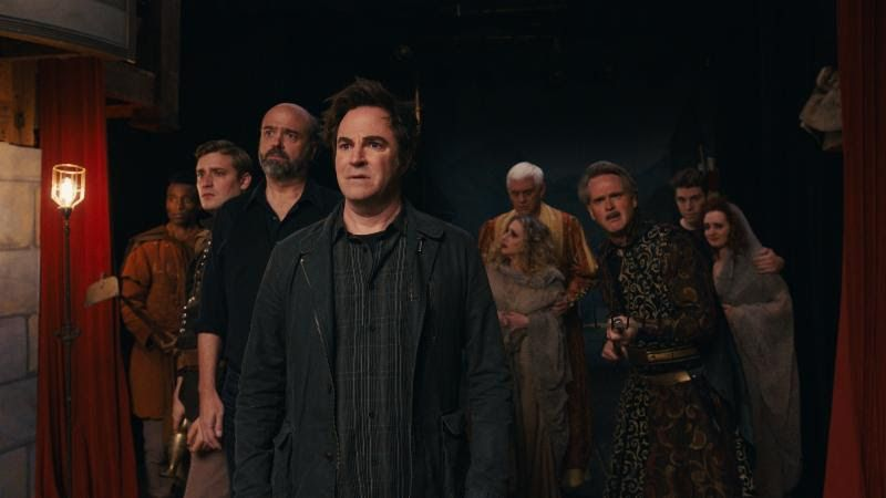 """Roger Bart as """"Henry"""" (center) and the 'Macbeth' troupe in Ghost Light"""
