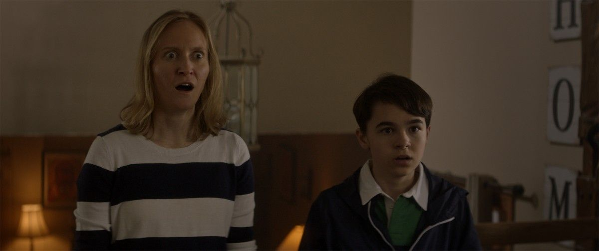 """(L-R) Alexis Hancey as Susan and Owen Myre as Luke in the horror/action/comedy film, """"PG: PSYCHO GOREMAN,"""" a RLJE Films/Shudder release. Photo courtesy of RLJE Films."""