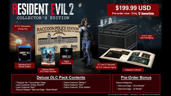 resident evil 2 collectors edition contents
